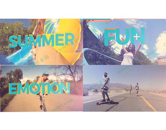 时尚小清新假期旅游视频展示AE模板