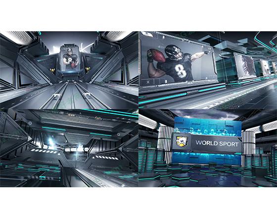 三维场景体育宣传栏目包装片头动画AE模板
