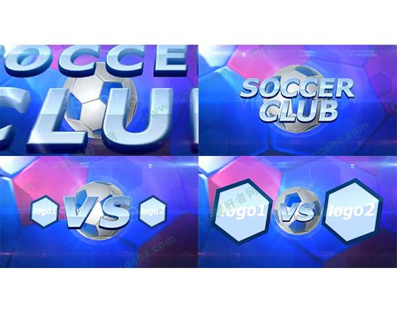 足球赛事队伍对阵预告AE模板