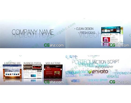 网站宣传介绍AE模板