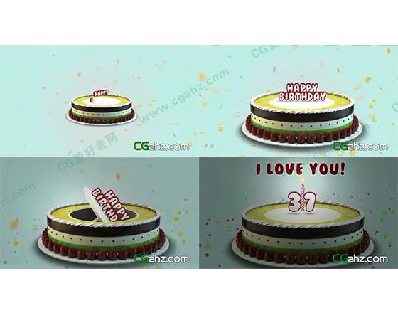 祝你生日快乐,生日祝福AE模板