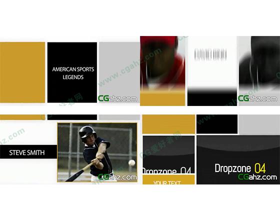 简洁干净的分屏内容包装效果AE模板