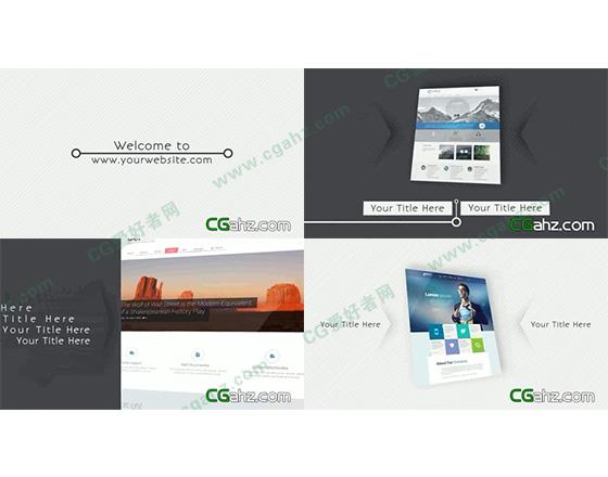 简洁干净的网站演示推广AE工程
