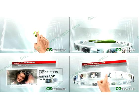 未来科技风手指触摸屏宣传演示AE模