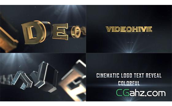 3D金属质感电影简介标题字母运动揭示AE模板