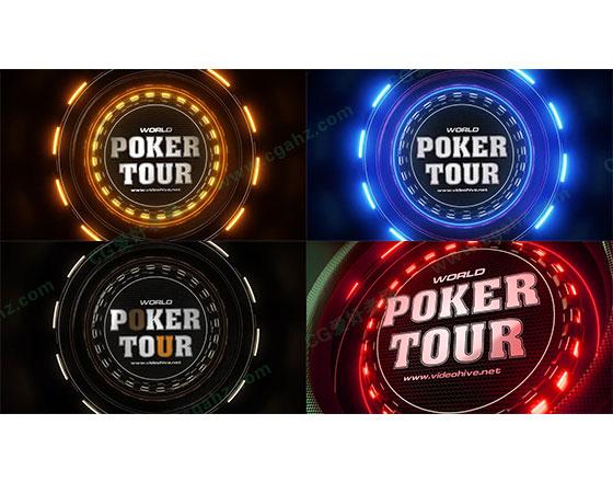 扑克大赛栏目包装Logo展示宣传AE模板