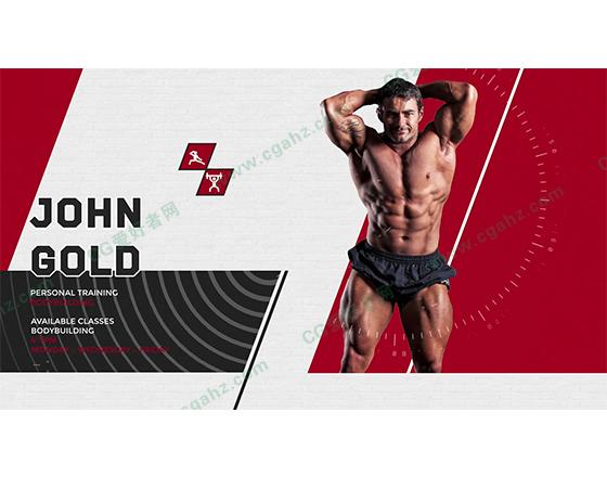 体育健身栏目包装宣传片介绍AE模板