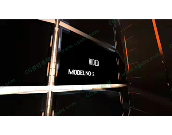 媒体圆柱屏幕栏目包装展示AE模板