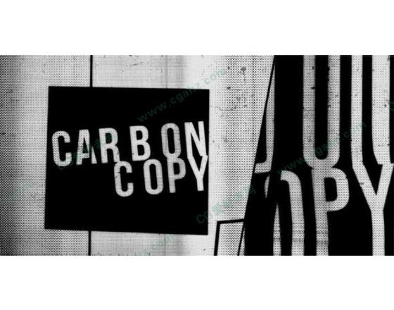 炫丽时尚的黑白字幕展示AE模板