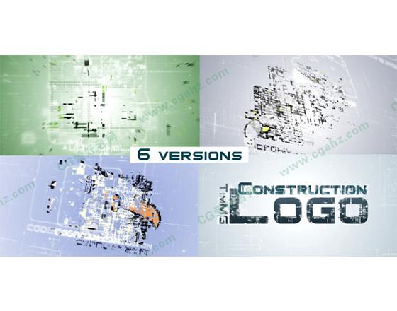 简洁的logo演绎展示AE模板