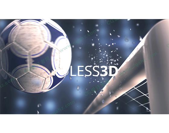 足球撞击栏目包装展示AE模板