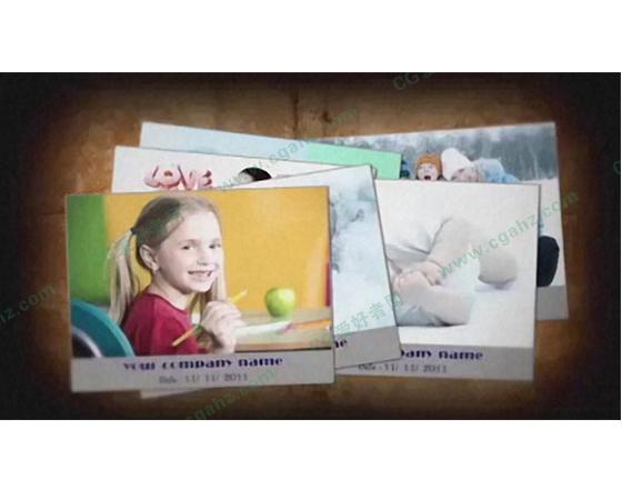 欧美风格的记忆照片AE模板