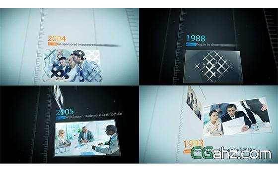 企业成长发展历史事件介绍AE模板