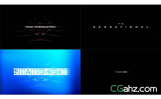 炫酷电影级预告宣传片AE模板