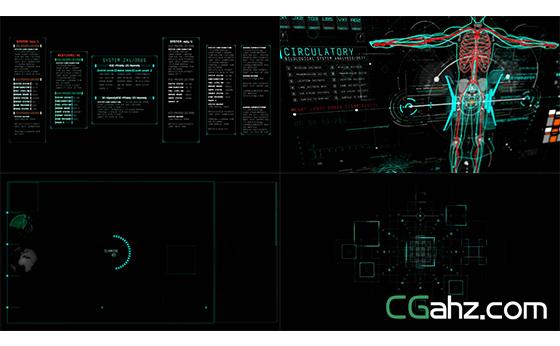 科技创新产品虚拟扫描信息动态展示AE模板
