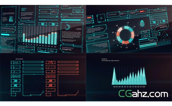 未来智能信息化科技屏幕触屏技术展示AE模板