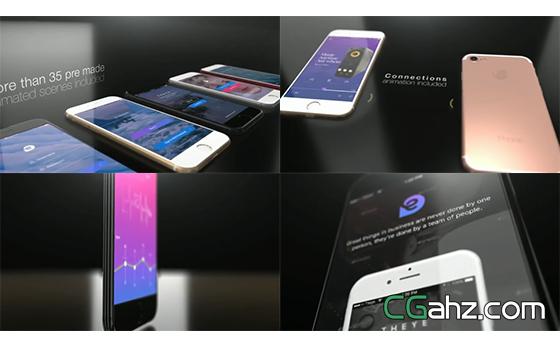 智能科技手机形象广告宣传推广展示AE模板