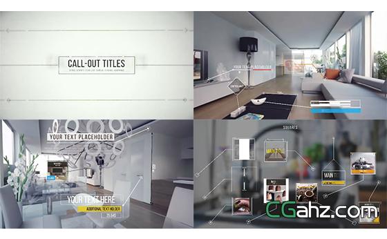 线条图形标识滑出演绎产品宣传幻灯片AE模板