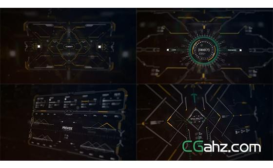 精密计量线条变化智能渲染显示片头AE模板