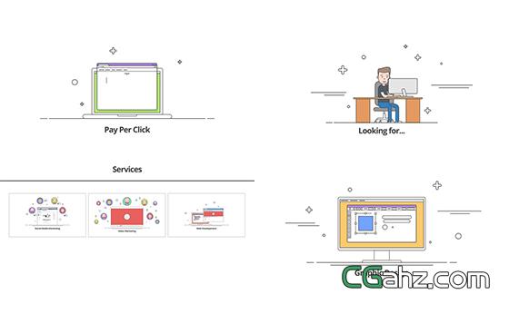企业形象动画元素宣传片头揭示AE模板