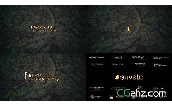 金属质感企业黄金标题展示宣传AE模板