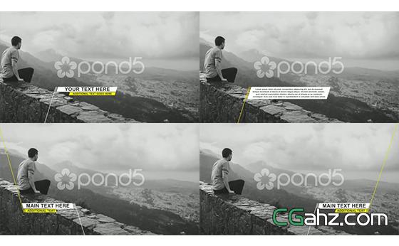 滑动字幕标题LOGO展示AE模板