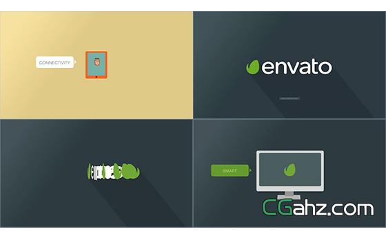 平面排版智能电子产品切换宣传片AE模板