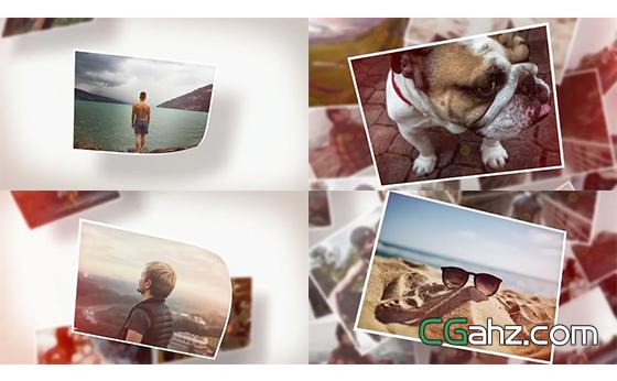 照片切换场景效果演绎独特相册幻灯片AE模板