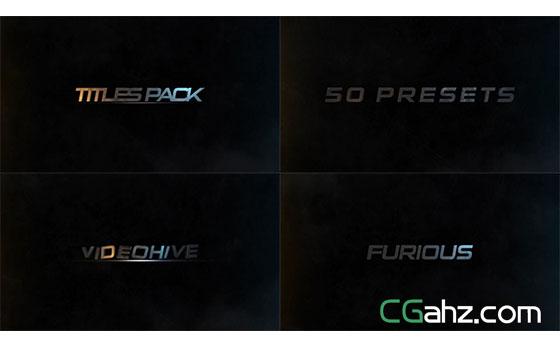 移动元素颜色字形转换标题设计显示AE模板
