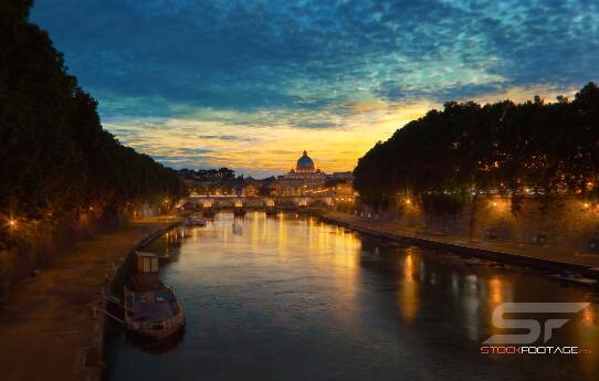 美丽的罗马风光4K高清演示片