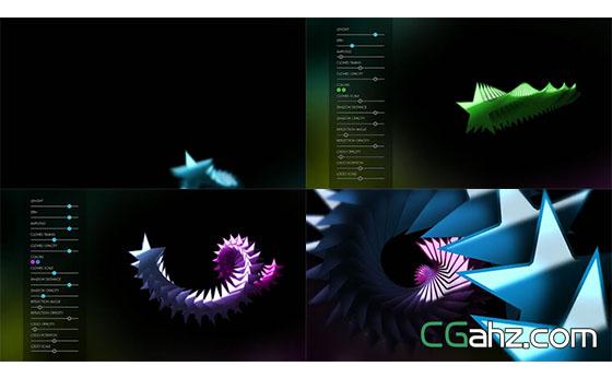 圖形滑動渲染大氣幻燈片場景片頭AE