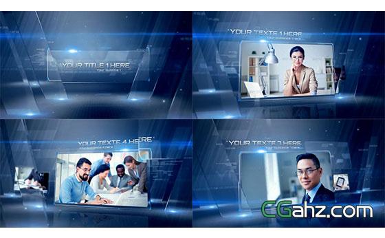 企业图文演示切换过渡宣传片AE模板