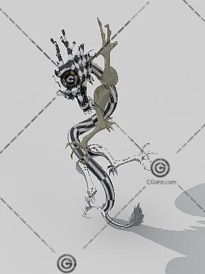 龙雕塑3D模型下载