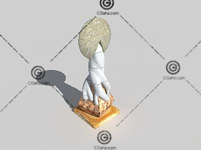 树根造型雕塑3D模型下载