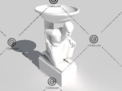 男子雕像3D模型下载