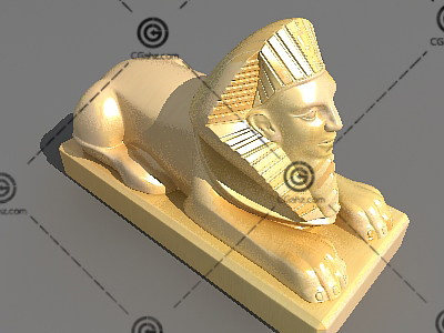 3D模型狮身人面像