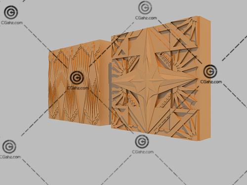 雕塑墙、雕塑砖3D模型