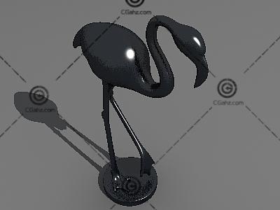 仙鹤雕塑3D模型