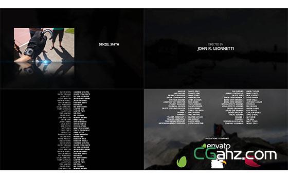 简洁影视片头片尾字幕展示AE模板