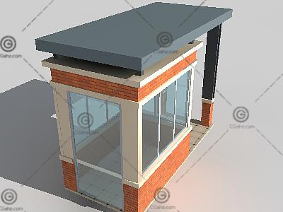 常用小区门卫3D模型