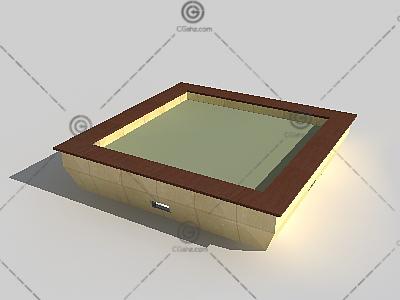 方形树池3D模型