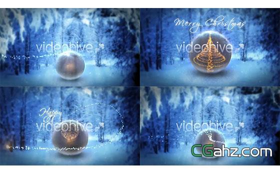 圣诞新年Logo标志演绎动画AE模板
