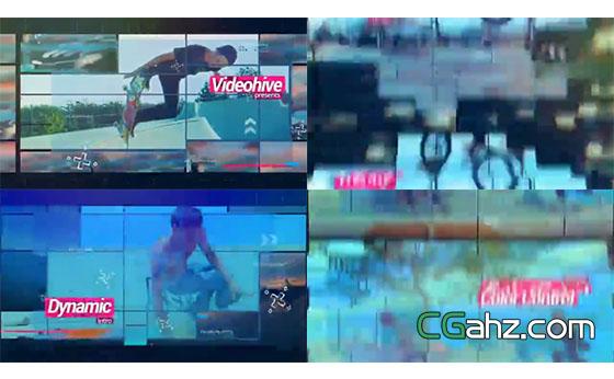 体育运动影像展示特效片头AE模板