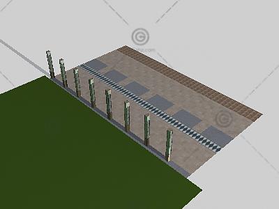 景观灯柱3D模型