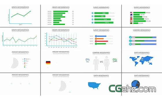 信息图表元素AE工程