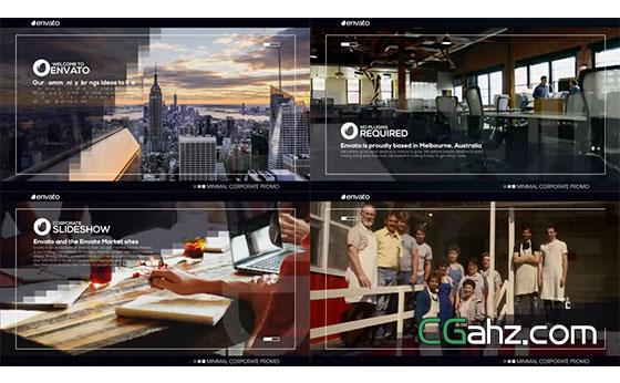 线框内的现代公司商务展示AE模板