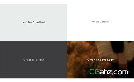 干净的扁平化图形动画标志演绎AE模板