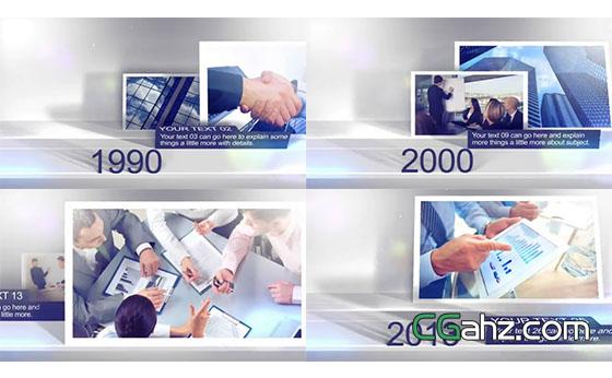 企业时间线图文内容展示AE模板