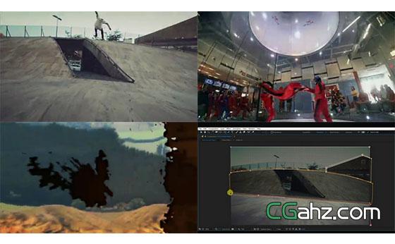 冻结并空间展示后继续视频展示的AE模板