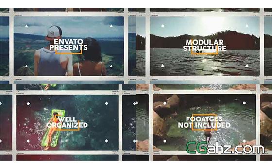夏天主題影像展示片頭AE模板